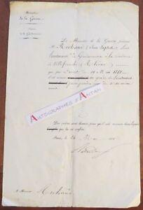 J-L-RANDON-1851-Ministre-Guerre-Marechal-de-France-Richaud-lettre-ne-Grenoble