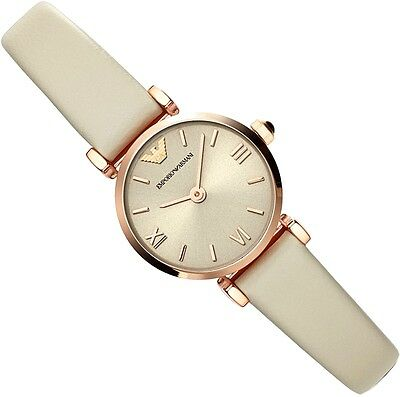 EMPORIO ARMANI LADIES WATCH AR1771 BEIGE  -  BRAND NEW WITH CERTIFICATE