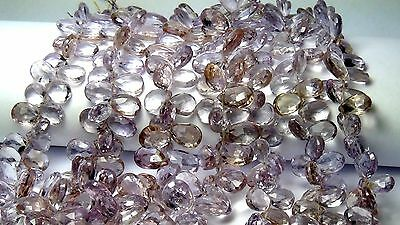 Ametrine faceted pear briolette