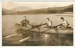Rugged-River-Rowers-1930s-Sports-Vintage-Real-Photo-Post-Card