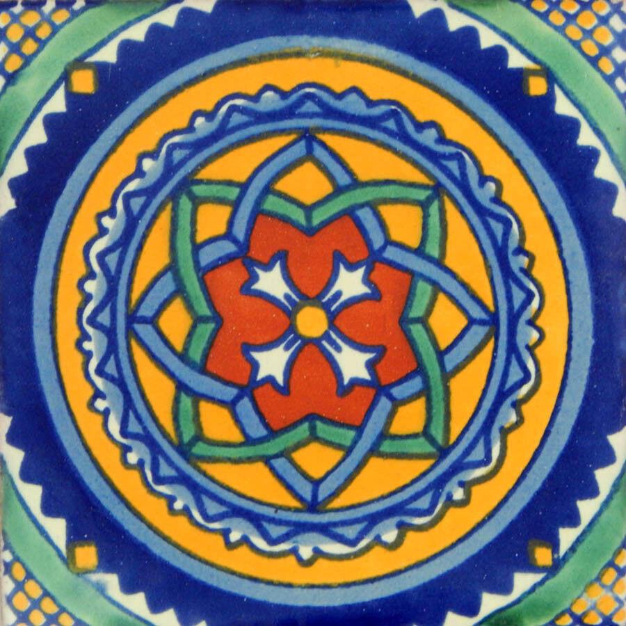 100 Mexican Talavera tiles 4x4 Decorative Folk Art Handmade C119