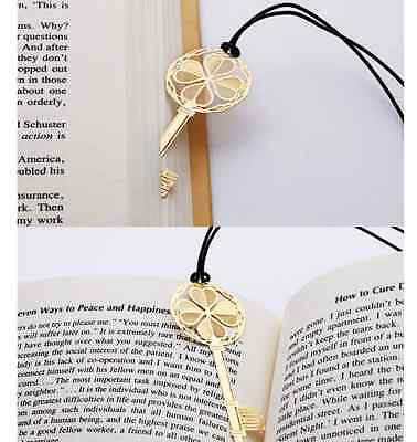 Cute Lucky golden key bookmarks lovely designs unique UK seller Book Gift Fun