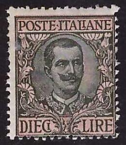 REGNO-D-039-ITALIA-1910-10-Lire-n-91-FLOREALE-INTEGRO-250