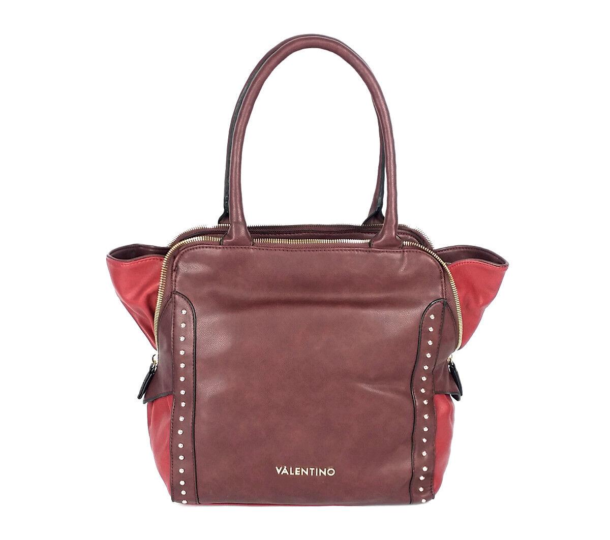 Valentino Elizabeth Shopping Bordeaux, Sac à Main Main Main Sac en Bandoulière Femmes 2e82d1