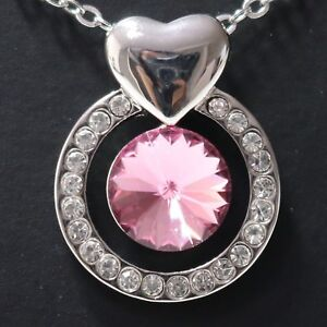 Image is loading Gorgeous-Pink-Sapphire-Necklace-Women-Jewelry -Anniversary-Gift- 5f3f5dd320ac