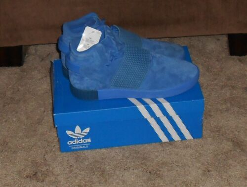 *NEW* Adidas Originals Men/'s Tubular Invader Strap Blue Suede Mid-top Shoes 10