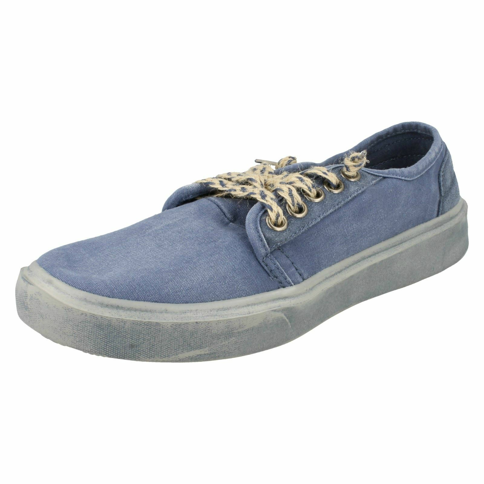 Mens Hey Dude Casual Canvas schuhe Buster Washed