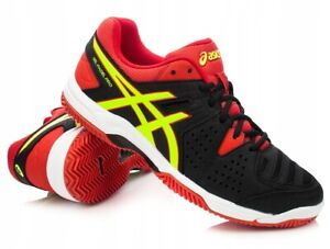 Asics-Gel-Padel-Pro-3-SG-Black-Red-Tennis-Shoes-Trainers-UK-7-5-8-5-9-9-5