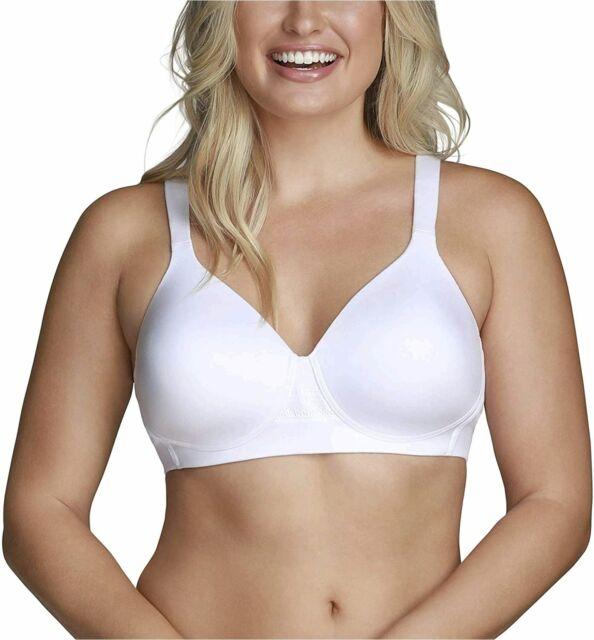 Vanity Fair Women's Beyond Comfort Seamless Back Wireless Bra, White, Size 38D r