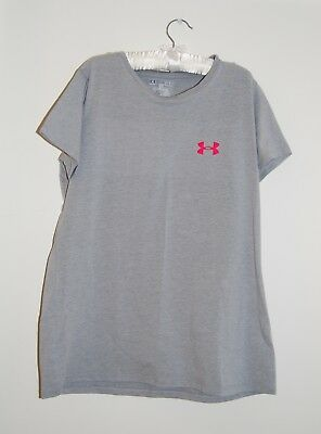 NWT Under Armour XL Girls Lavender//Pink//Lt Blue GIRLS RULE Heat Gear Shirt YXL