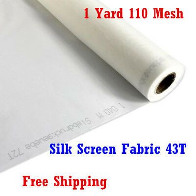 "1 Yard 36/"" L Silk Screen Printing Mesh Fabric 110 White 43T 110-80W PW"