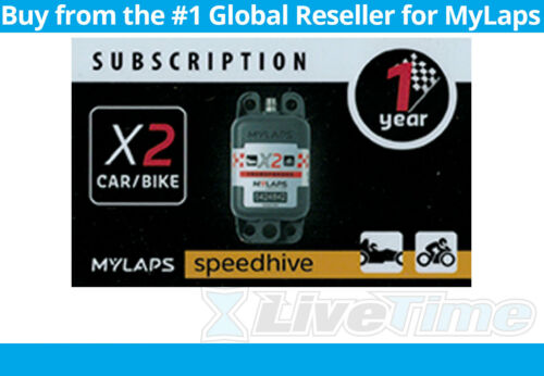 MyLaps X2 Subscription 1-year Renewal Card for Car/Bike Rechargeable Transponder