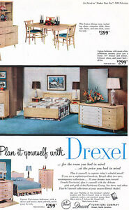 Details about Drexel Furniture Parisienne French Provincial Bedroom Dining  Room 1955 Print Ad
