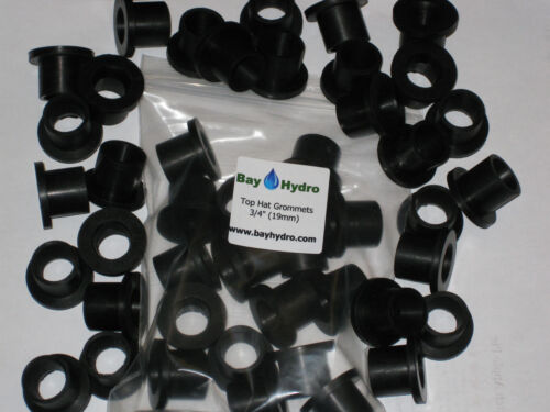 "10pc 3//4/"" 19mm Bay Hydro Top Hat Grommets Bucket Fed Systems Tubing $$ SAVE $$"