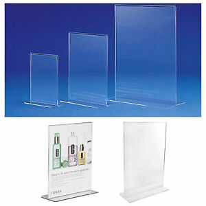 image is loading acrylic double sided freestanding poster holder a4 a5