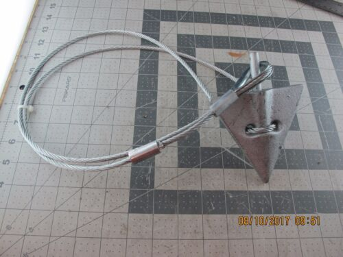 Military Antenna Tent Stake /& Ground Anchor Guy Cable Heavy Duty Z4S5