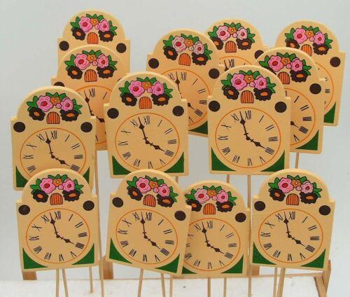 12 x trendy Holz Uhrenstecker  VINTAGE 33 cm  DEKO//Basteln zum Sonderpreis 5218