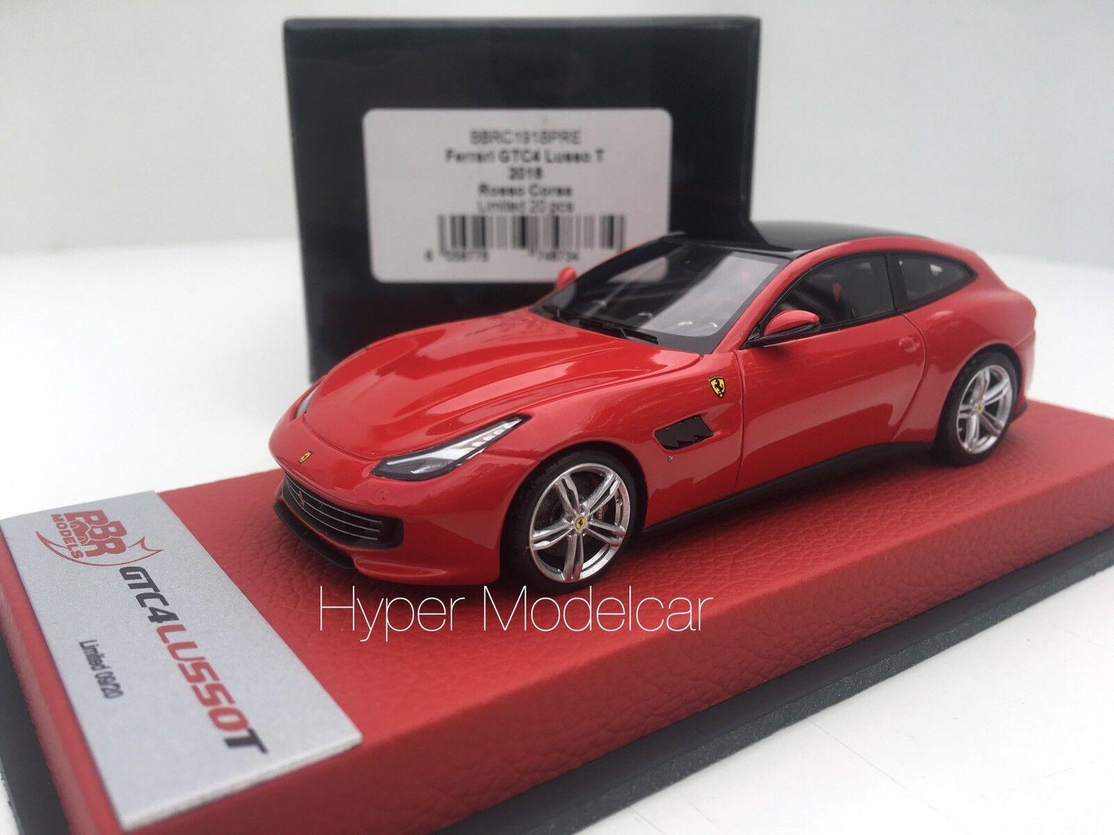 BBR Models 1 43 Ferrari gtc4 Luxury T 2017 Red Leather Base Art BBRC 191pre