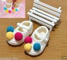 1Pair Booties Soft Warmer Crib Handmade Crochet Knit Baby Infant Boys Girl Shoes