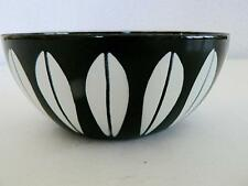 "CATHRINEHOLM NORWAY 4"" BLACK ENAMEL LOTUS BOWL #3 RETRO MCM CATHERINE HOLM"