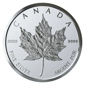 CANADA-2019-99-99-PROOF-SILVER-MAPLE-LEAF-BULLION-MEDALLION-COIN