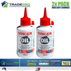 Singer Sewing Machine Oil 200ml Lubricant Domestic Industrial Lube Hinge Lock