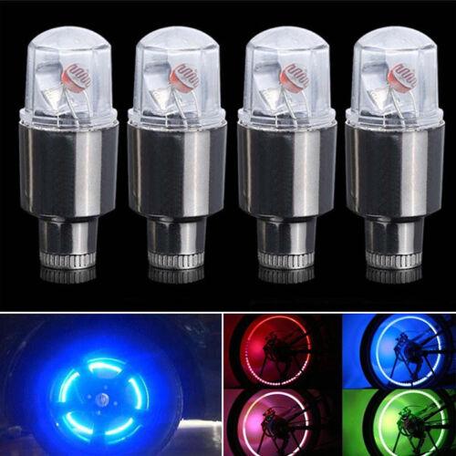 Light Lamp 2pcs 4pcs Car Motorcycle Wheel Tire Tyre Valve Cap Spoke LED Flashing