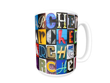 ARCHER Coffee Mug / Cup featuring the name in photos of sign letters