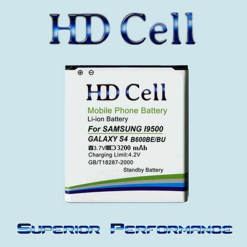 3200mAh HD Cell battery Samsung Galaxy S4 i9500 i9505 / B600BE