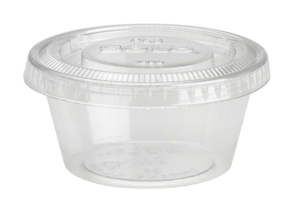 Clear Plastic Cups With Lids : Solo oz plastic souffle portion cups lids ultra