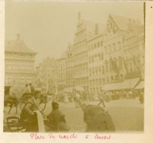 Belgique-Anvers-Place-du-Marche-Vintage-citrate-print-Vintage-Belgium-Antwe