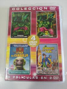 EL-INCREIBLE-HULK-LA-ISLA-DEL-CANGREJO-EMBRUJO-DEL-SUR-2-DVD-ESPANOL-ENGLISH