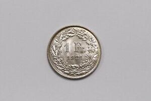SWITZERLAND 1 FRANC 1921 SILVER HIGH GRADE BETTER ON HAND B26 #K9464