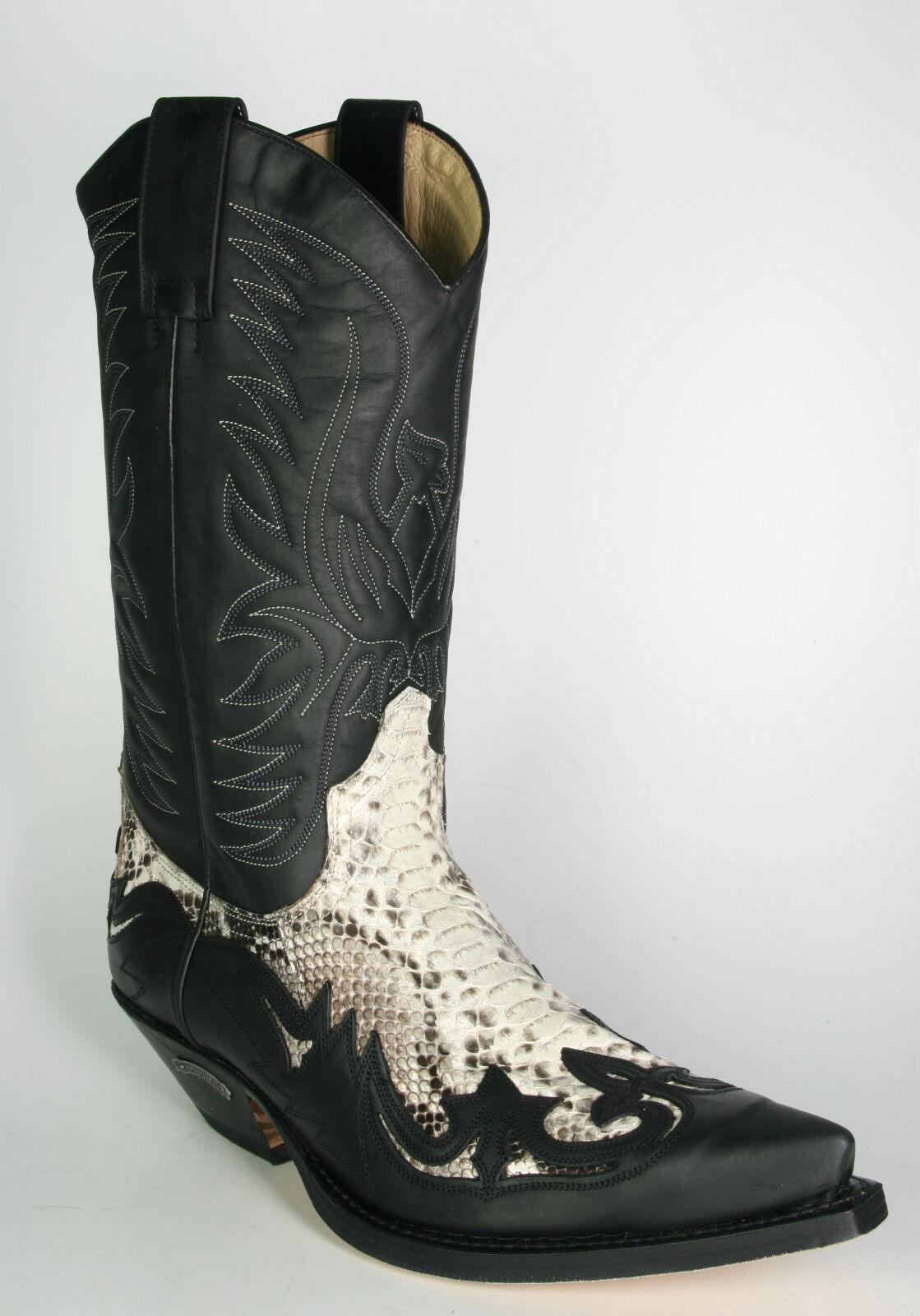 3241 Cowboystiefel Sendra schwarz Python Natural    | Deutschland Shops