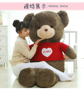 New Giant Hung Big Plush Brown Teddy Bear Huge Plush Soft Toy Doll Gift