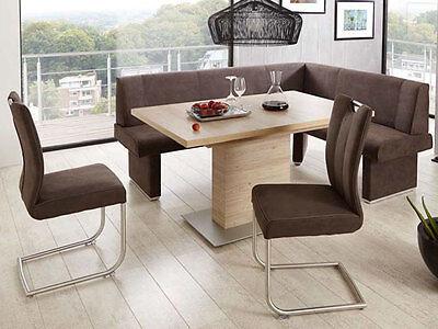 Niehoff Eckbankgruppe Pia Essgruppe Eckbank Schiebeplattentisch 2 Schwingstühle