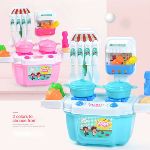 1 Set Boy Girl Toys Role Play Mini Simulation Kitchenware Tableware Cookware US