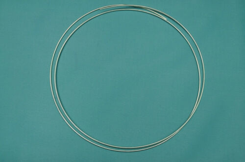 """Pure Silver Wire 99.99/% 10 Gauge 24/"""" Certified 9999"""