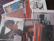BOB DYLAN DESIRE COLLECTION OF 7 JAPAN Replica LPS Sealed IN A RARE OBI CD