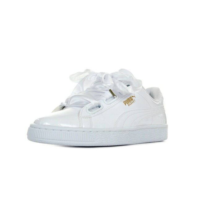 Blanc Basket Patent Blanche Femme Heart Chaussures Baskets Wns Taille Puma YmIfgby76v