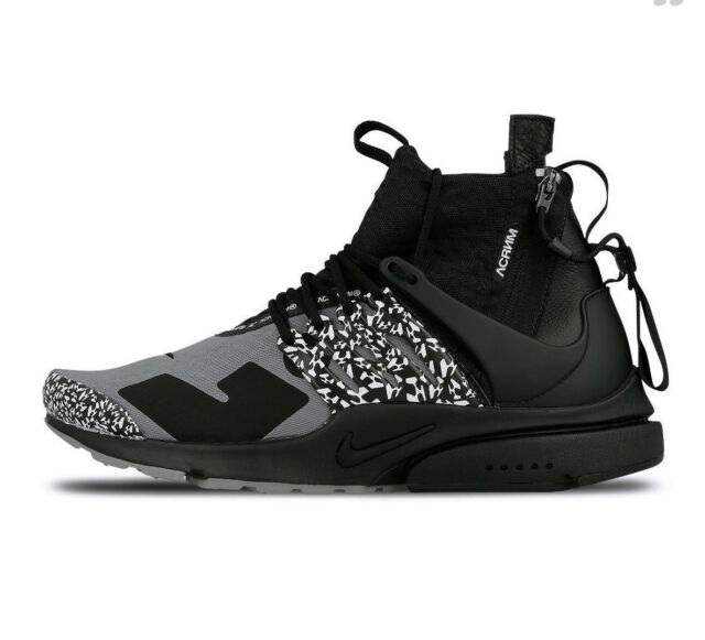 c72e968504 Nike NikeLab x Acronym Presto COOL GREY BLACK WHITE AH7832-001 sz 8 Men