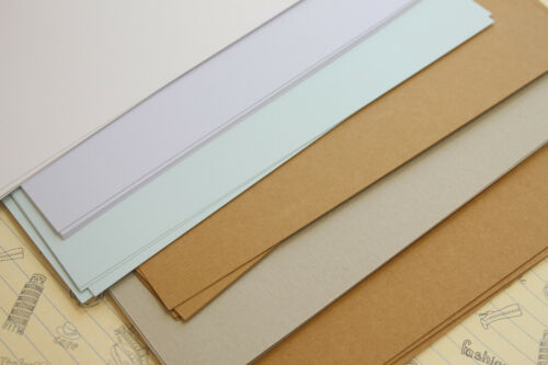 Recycled Natural Card Stock plain solid colors rustic wedding craft postcards