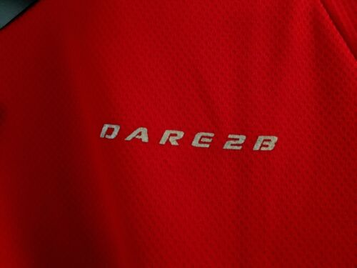 Dare 2b Volition Mens Wicking Sports Cyclisme Exercice Couche De Base T-shirt rouge XL