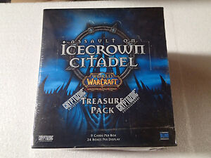 WOW-World-of-Warcraft-TCG-Icecrown-Citadel-factory-sealed-box-of-Treasure-packs