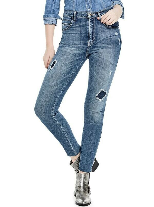 Guess Women's Super High Rise Skinny Jeans Size 28