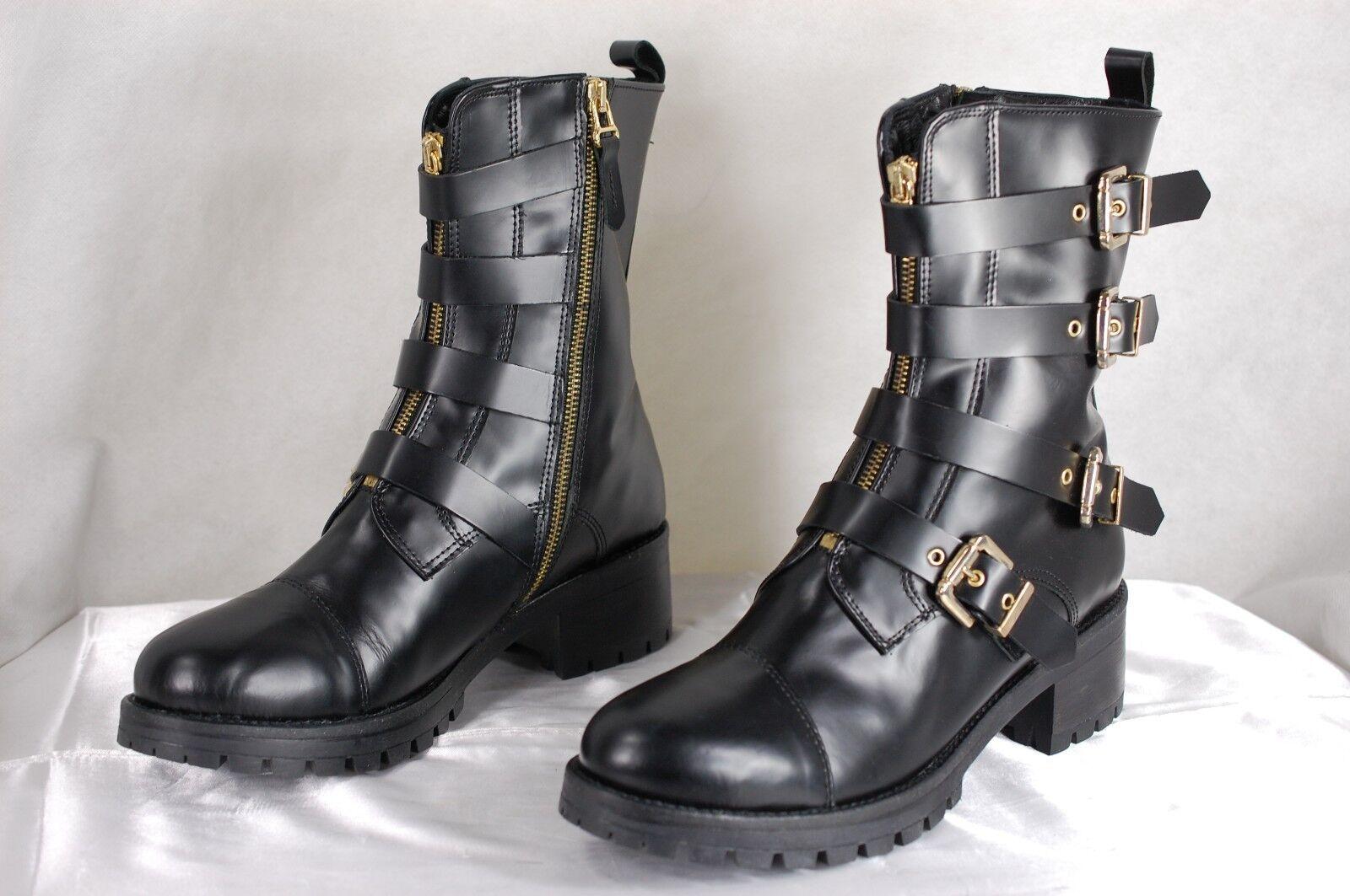 CHIARA FERRAGNI MADE IN ITALY 'BRAD' WOMEN BLACK BIKER RIDING 7 Stiefel EU 37 US 7 RIDING f4af66