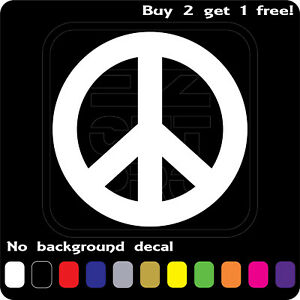 Details about PEACE SIGN LOGO STICKER VINYL DECAL LOVE HIPPIE SYMBOL CAR  WINDOW Buy2Get1Free