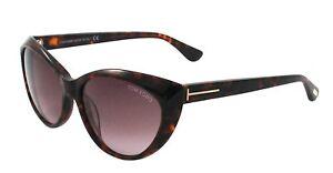 Tom Ford Martina Sunglasses Dark Havana Frame Gradient Lens FT231 52F 59-16 135