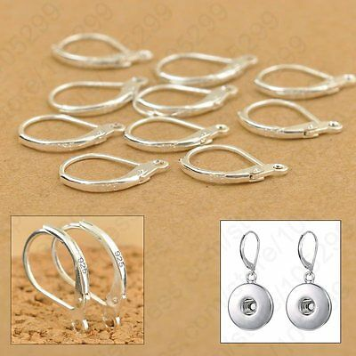 100pcs .925 Sterling Silver LEVERBACK Earwire Hook Jewelry Earring Findings DIY