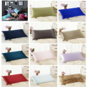 Silk-Sofa-Bed-Rectangle-Cushion-Cover-Throw-Pillow-Case-Pillowcase-Simple-Solid